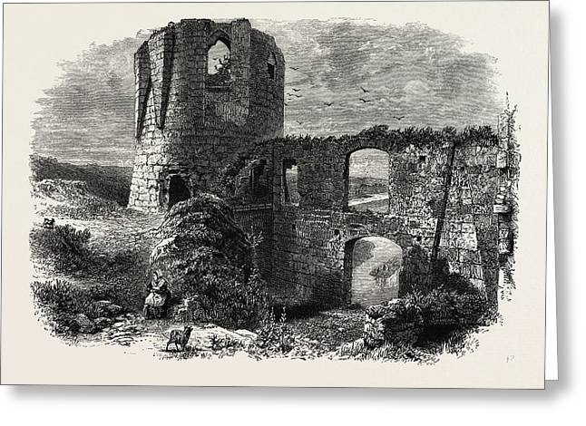 Chateau Gaillard, Normandy And Brittany, France Greeting Card