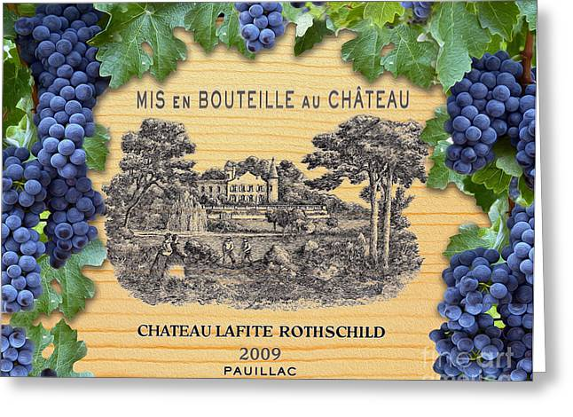 Chateau Lafite Rothschild  Greeting Card by Jon Neidert