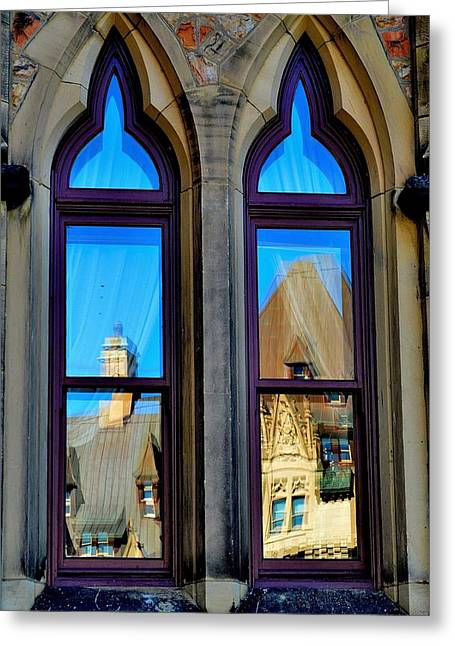 Chateau Laurier - Parlaiment Window - Reflection # 1 Greeting Card