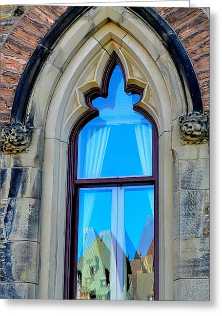 Chateau Laurier - Parlaiment Window - Reflection # 5 Greeting Card