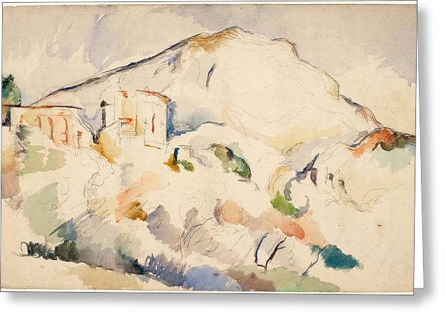 Chateau Noir And Mont Sainte Victoire  Greeting Card by Paul Cezanne