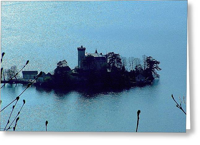Chateau Sur Lac Greeting Card