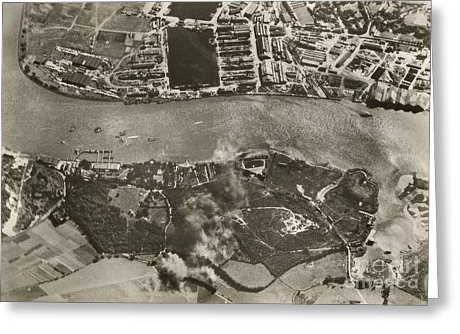 Chatham Dockyards Air Raid, World War II Greeting Card