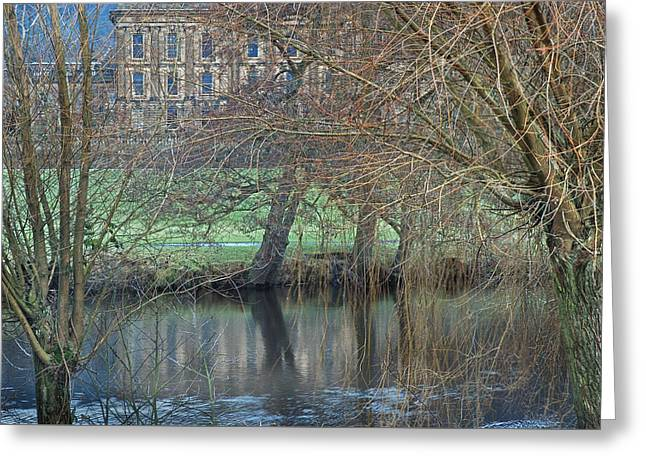 Chatsworth House December Greeting Card by Jerry Daniel
