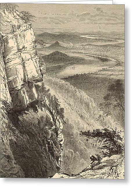 Chattanooga And The Tennessee From Lookout Mountain Greeting Card by Antique Engravings