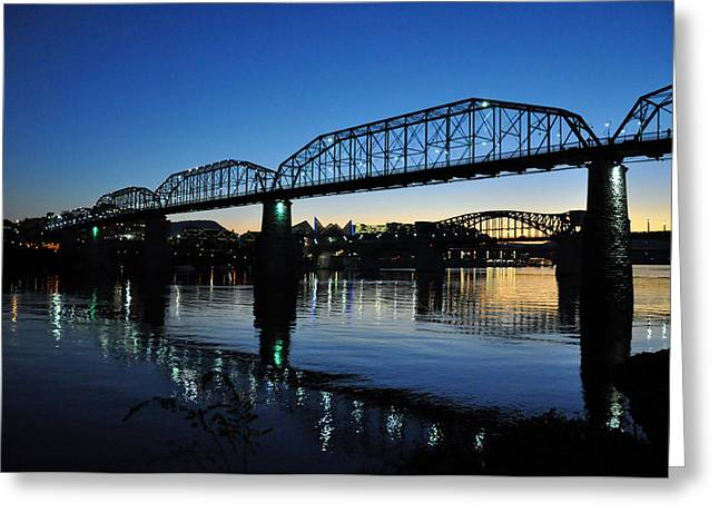 Tennessee River Bridges Chattanooga Greeting Card