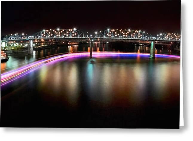 Chattanooga Holiday Boat Parade Greeting Card by Steven Llorca
