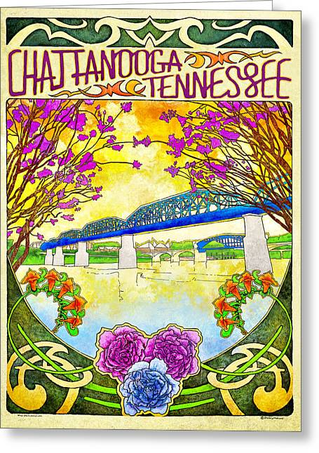 Chattanooga Tourism 1 Greeting Card by Steven Llorca