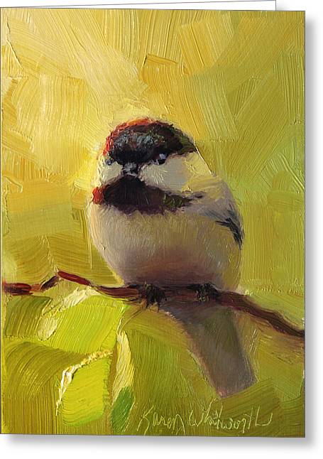 Chatty Chickadee - Cheeky Bird Greeting Card
