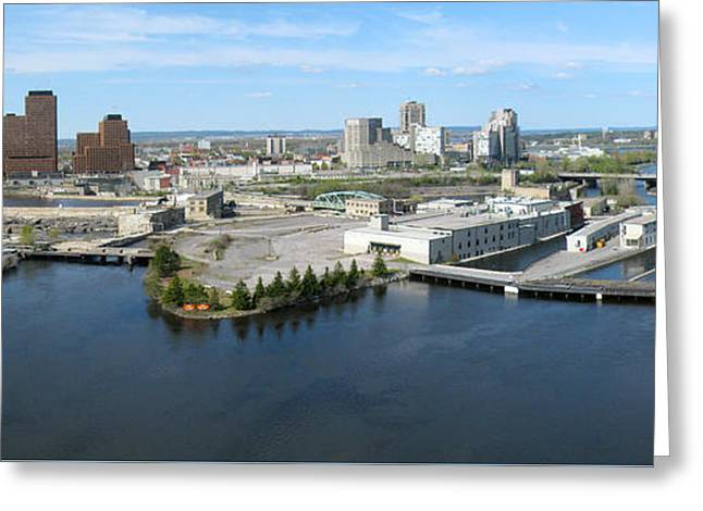 Chaudiere Falls Aerial Panorama Greeting Card