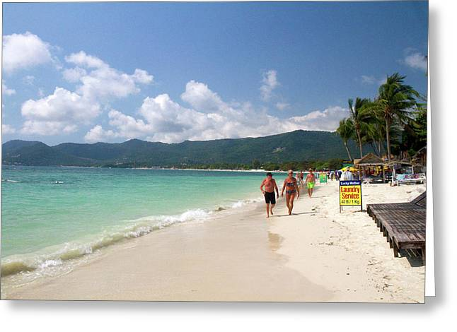 Chaweng Beach And The Gulf Of Thailand Greeting Card by David R. Frazier