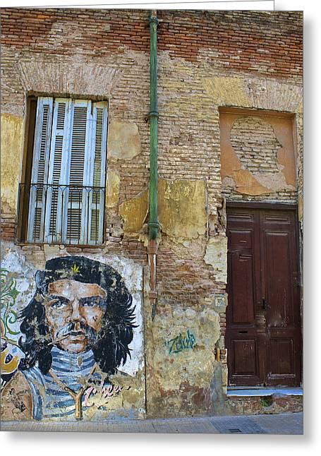 Che Guavara Street Art In San Telmo Greeting Card