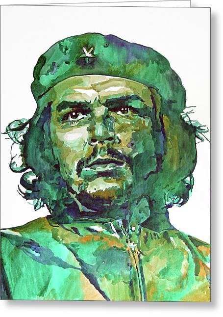 Che Guevara Greeting Card by David Lloyd Glover