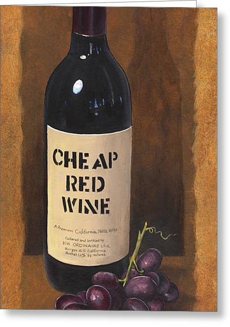 Cheap Red Wine Greeting Card by Terri  Meyer