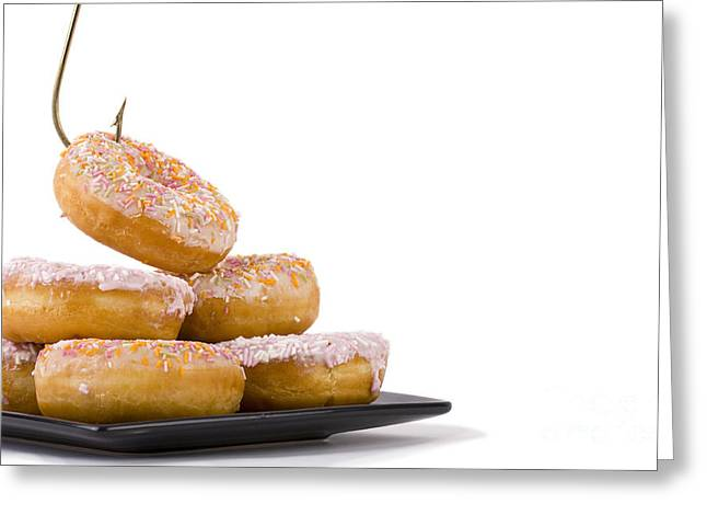 Cheating On Your Diet Greeting Card by Simon Bratt Photography LRPS