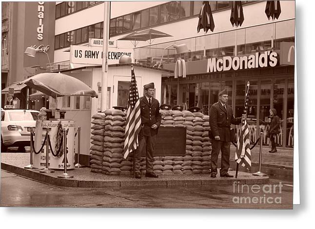 Check Point Charlie Greeting Card