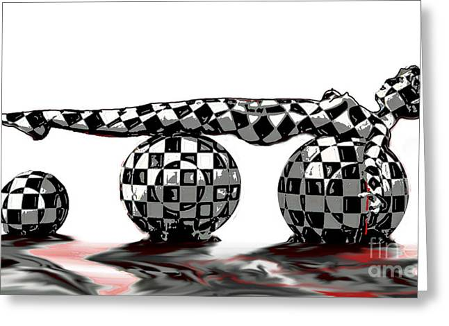 Checkered Past Greeting Card by Tbone Oliver