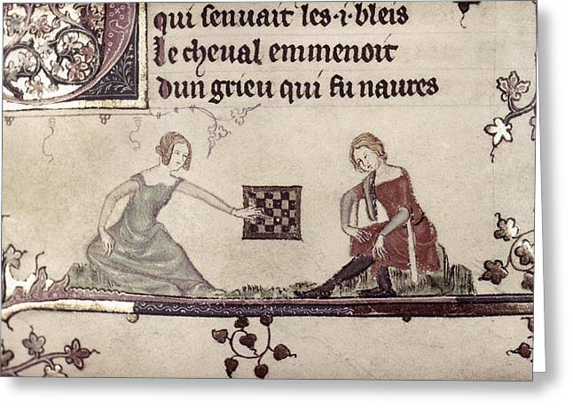 Checkers, 14th Century Greeting Card