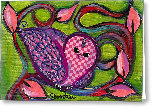 Checkers Birdy Greeting Card