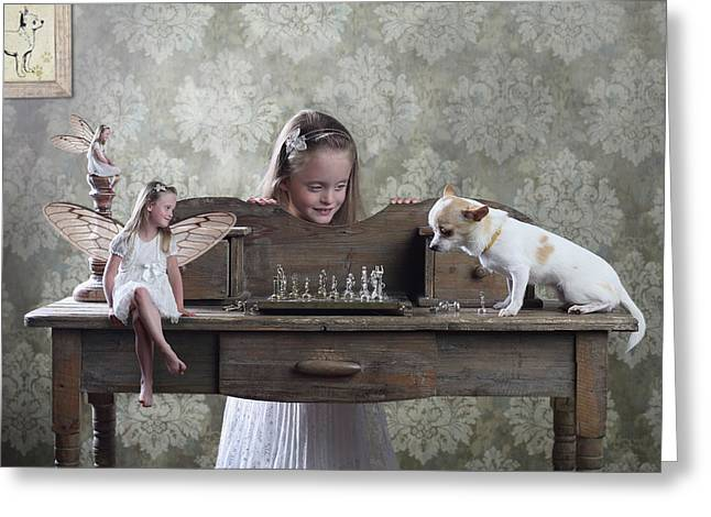 Checkmate Or 3 Against 1 Greeting Card