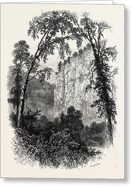 Chee Tor, Chee Dale, The Dales Of Derbyshire Greeting Card by English School