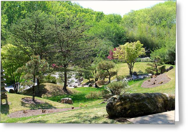 Cheekwood Japanese Garden Greeting Card by Donna Melton