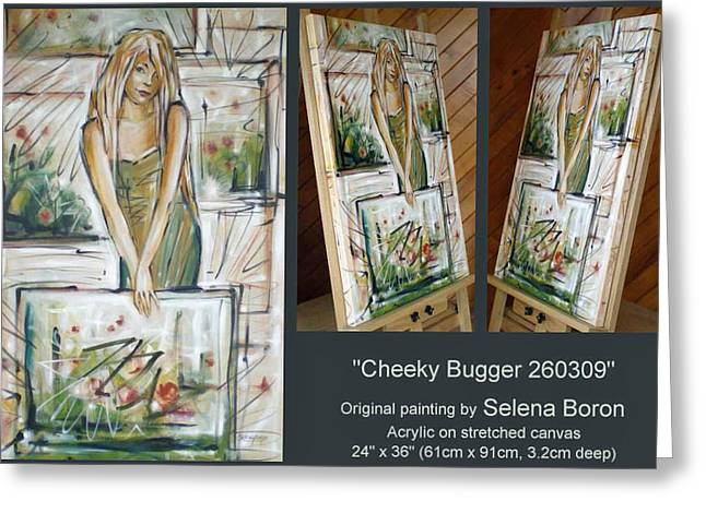 Greeting Card featuring the painting Cheeky Bugger 260309 Comp by Selena Boron