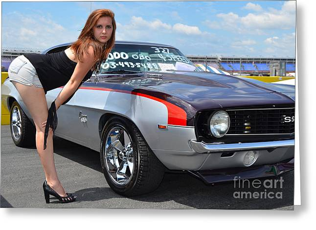 Cheeky Camaro Greeting Card