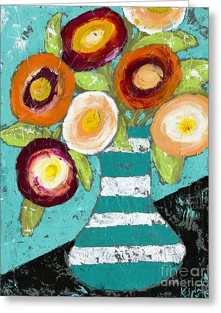 Cheerful Blooms Greeting Card by Kirsten Reed