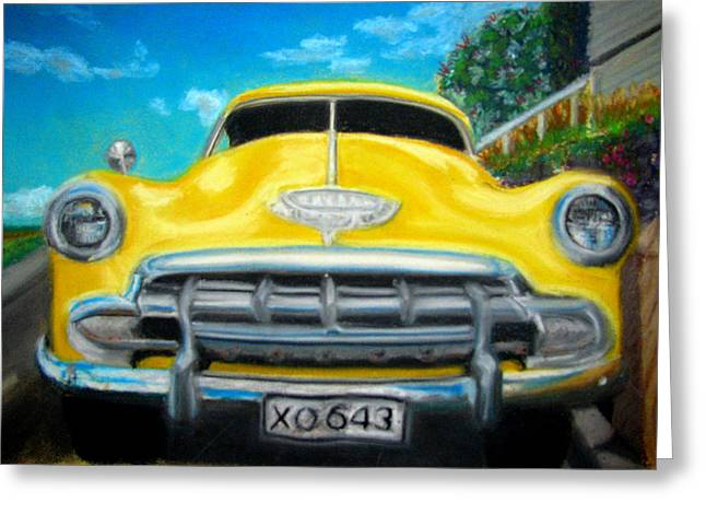 Cheerful Chevy Greeting Card