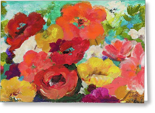 Cheerful Flowers II Greeting Card by Patricia Pinto