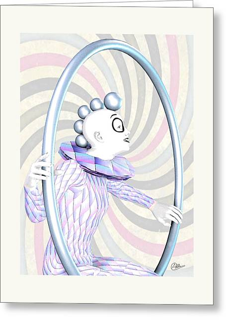 Cheerful Harlequin Greeting Card by Quim Abella