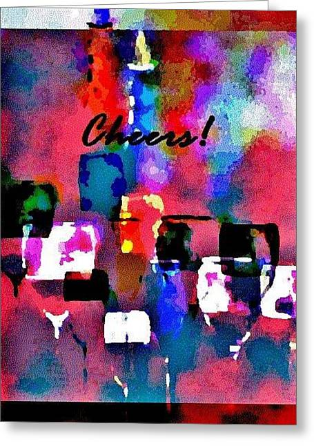 Greeting Card featuring the painting Cheers by Lisa Kaiser