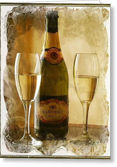 Cheers Greeting Card by Lucinda Walter