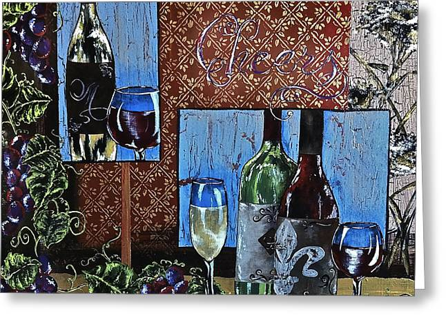 Cheers Greeting Card by Sheena Pape