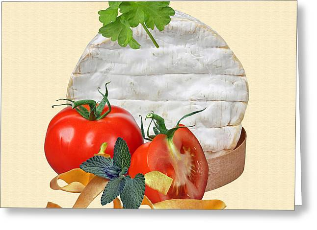 Cheese 2 Greeting Card by Manfred Lutzius