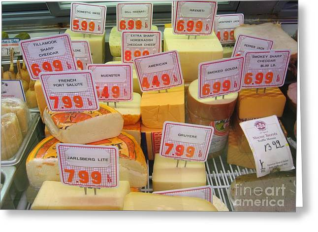 Cheese Display Greeting Card