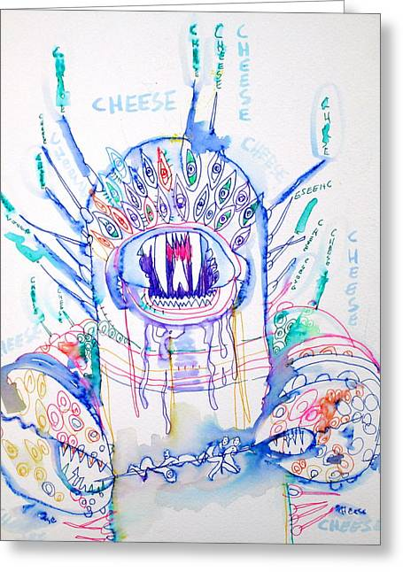 Cheese Greeting Card by Fabrizio Cassetta