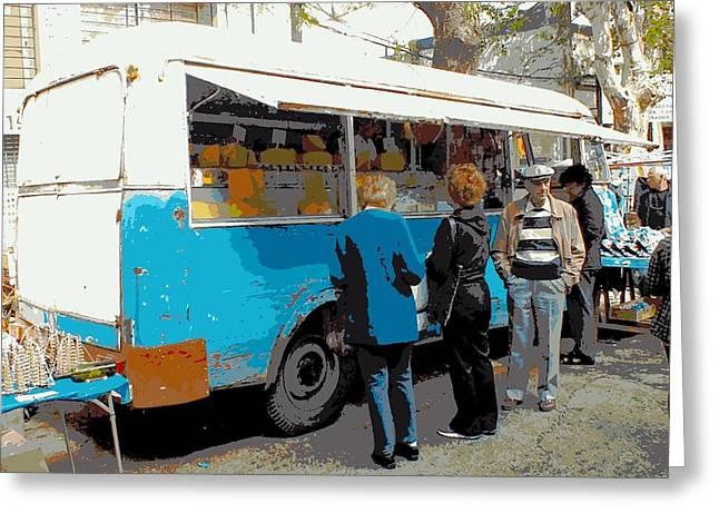 Cheese Van Greeting Card by Tg Devore