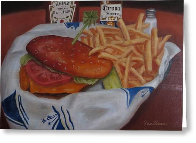 Cheeseburger In Paradise Greeting Card
