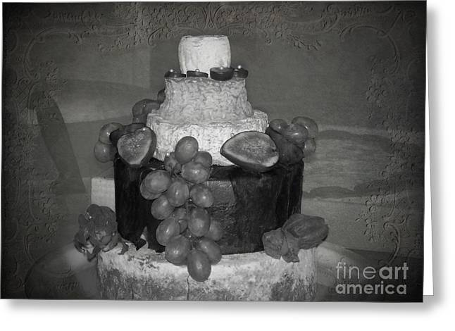 Cheesey Wedding Cake Greeting Card by Michelle Orai