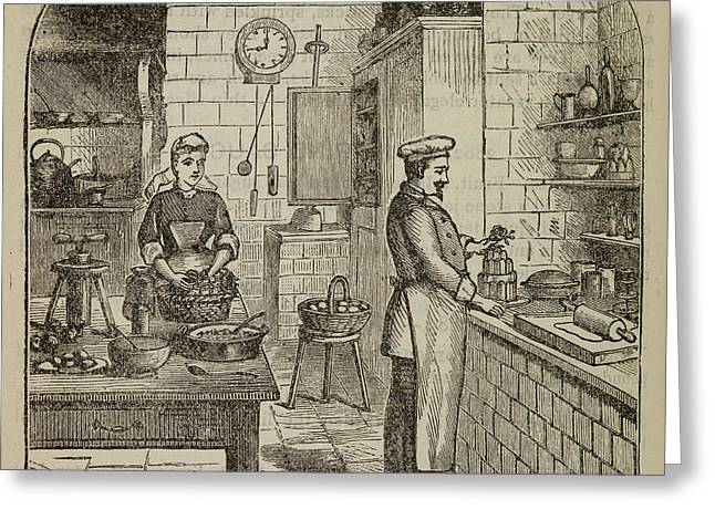 Chef At The Stove Greeting Card by British Library