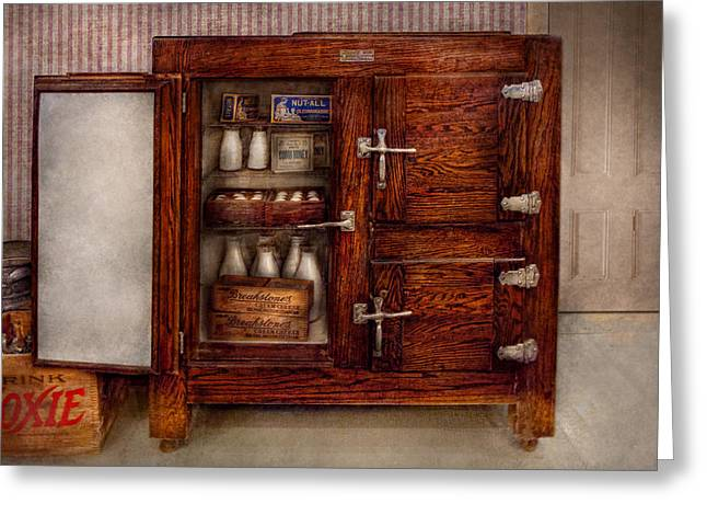 Chef - Fridge - The Ice Chest  Greeting Card by Mike Savad