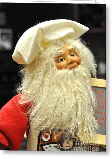 Chef Santa Greeting Card by Vinnie Oakes
