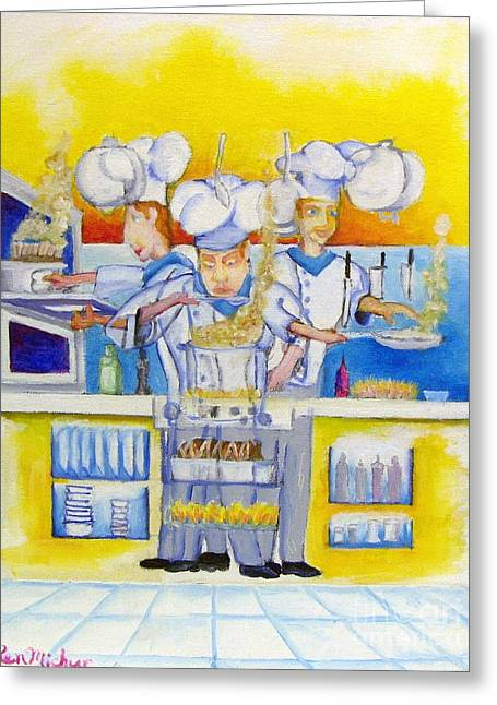 Chef's Kitchen Greeting Card by Kenneth Michur