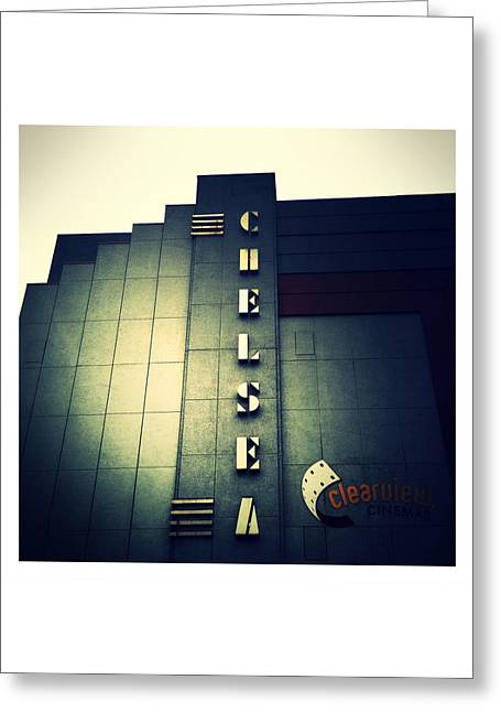 Chelsea Art Deco Blue Greeting Card by Natasha Marco