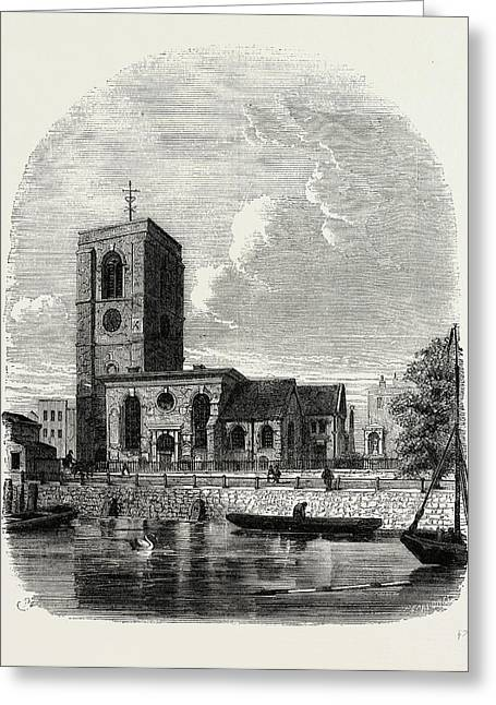Chelsea Church, 1860 Greeting Card