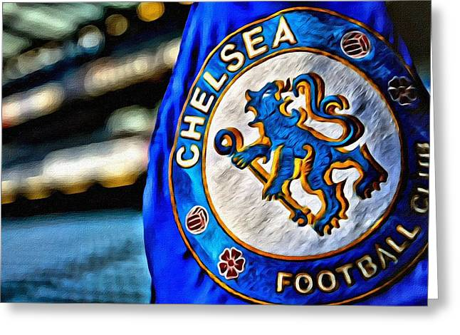 Chelsea Football Club Poster Greeting Card