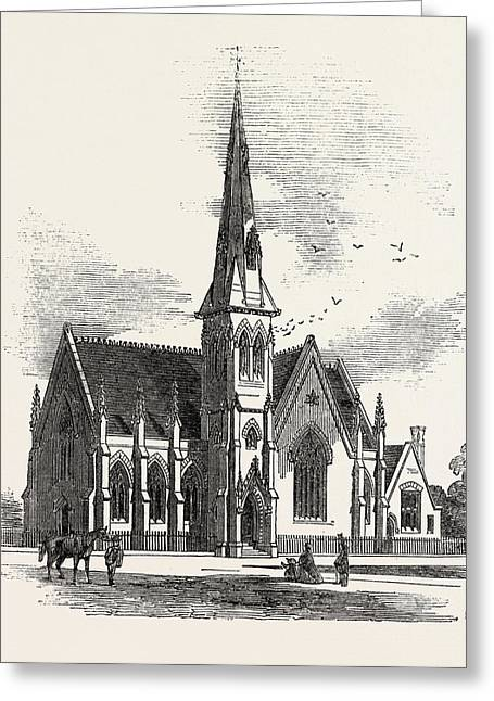 Chelsea New Congregational Church, Markham Square Greeting Card