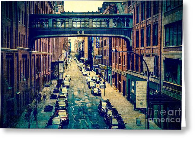Chelsea Street As Seen From The High Line Park. Greeting Card by Amy Cicconi
